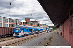 844.003-4 + 844.013-3 | trať 331 | Zlín-střed (jirka.zapalka) Tags: summer train cd os zlin stanice trat331 rada844