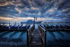 Il Molo (TXA Photography) Tags: venice venezia italy italia europe travel spring march gondola gondole pier ilmolo sky dawn clouds canon canon5d canon5dmkiii grandcanal hdr highdynamicrange longexposure