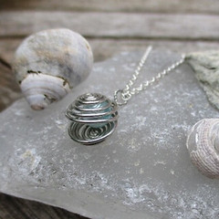 oyster (kayleigh richardson) Tags: oyster sea ocean swirl silver pendant chain pearl turquoise