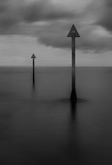 Markers (avaird44) Tags: 6d ef24105mmf4lisusm longexposure 10stop sea coast marker harbour entrance whitehills banff aberdeenshire scotland blackandwhite mono monochrome bw