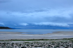 Spring storm over the Lakeside Mountains (Great Salt Lake Images) Tags: storm utah spring twilight antelopeisland greatsaltlake ladyfinger
