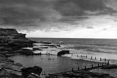 Ocean pool swimming || Mahon Pool (David Marriott - Sydney) Tags: ocean white seascape black pool swimming sunrise australia newsouthwales council maroubra mahon awn randwick