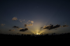 Crepuscular rays in wide angle