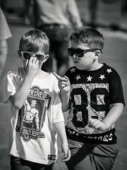 street people white black boys sunglasses kids children candid stranger shade unposed streetshot philosophers schoolyard
