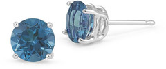 0.10 Carat Round Blue Diamond Stud Earrings in 14K White Gold (shopsmileprize) Tags: blue white gold diamond round 14k earrings stud 010 carat