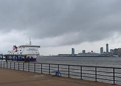 Birkenhead and the River Mersey. (Tudor Barlow) Tags: ferry liverpool spring ships birkenhead rivers cruiseship rivermersey lumixfz200