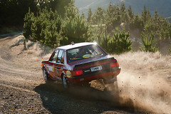 Mitsubishi Lancer EX Turbo (robktkate) Tags: newzealand car speed nikon rally racing dirt gravel motorsport d5000 nikond5000 2015rallyofcanterbury