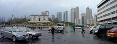 Place dans le centre de Pyongyang (jonathanung@ymail.com) Tags: lumix asia korea asie kp nord northkorea pyongyang corée dprk cm1 koryo coréedunord insidenorthkorea républiquepopulairedémocratiquedecorée rpdc lumixcm1