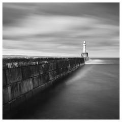 142/366 2 mins at South Breakwater (Sarah*Rose) Tags: longexposure sea lighthouse pier harbour south aberdeen filter northsea lee hightide breakwater bigstopper