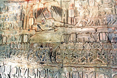 7 a Angkor Vat  l'extrmit gauche (philippedaniele) Tags: cambodge vishnu khmers siemreap apsaras fresque mandara angkorvat dieux vasuki jayavarman dmons