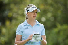Noora Tamminen of Finland checks her yardage book during the third round (Ladies European Tour) Tags: morocco mor rabat tamminennoorafin