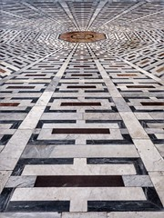 Tiled floor of Il Duomo, Florence (Thank you for 4M+ views.) Tags: italy church architecture florence floor cathedral tiles santamaria marble fiore ilduomo religeon