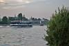 Frankfurt (horschte68) Tags: pentax k100d frankfurt urban life skyscraper 20130727 195422 frankfurtammain shore ufer mainufer wasser water fluss river reflection reflexion composition scenery perspektive perspective outdoor drausen aussen blickwinkel angle pointofview eyeinthesky ship schiff brücke bridge
