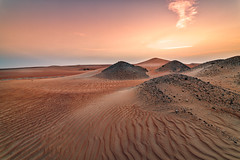 Sunset in the Desert (leguico) Tags: sunset landscape sand desert outdoor dune hdr aurorahdr