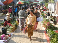 Kalaw (simo2582) Tags: people asian asia burmese shanstate shan birma birmania burma myanmar market kalaw human trade typical hilltribes tribes mountain hillstation village countryside travel reise blick unterwegs world traditional 5daysmarket groceries street woman walking