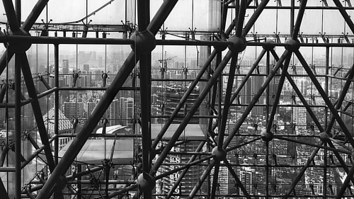 At the rooftop of highest building in Wuhan. 😏  #Wuhan #livewuhan ##china #rooftop #rooftoping #rooftoper #architecture #architectureporn #skyline #highest #birdview #hankou #bw #blackandwhite #bnw #cityscape #iPhoneSE #iPhoto #iPhotography #iPhoneO
