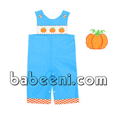 pumpkin smocked boy longall (babeeniclothing) Tags: smocked bishop dress children clothing fashion longall dresses boy girl thanksgiving halloween holiday