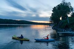 Sunset Paddle (Bill McBride) Tags: pond newengland northeastkingdom twilight landscape sunset vermont nature water freshwater outdoors lakewilloughby lake kayak summer kayaking