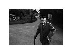 walk (Marek Pupk) Tags: central europe slovakia blackandwhite bw old man portrait documentary monochrome