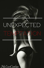 Unexpected Temptation (Me_Luvcookies) Tags: girl tempting unexpected temptation sexy woman cover photography edit editing bw black white blackandwhite hairflip undergarment lingerie model text blackbackground title arm tattoo butt