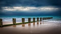 Tropical Bridlington (Mark Heslington Photography) Tags: bridlington north yorkshire east sea ocean groyne polariser canon 2470 28 clouds moody atmospheric relfection coast beach shore landscape seascape dramatic drama