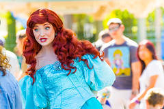 Ariel (EatThisLight) Tags: disney disneyland character facecharacter thempark california anaheim female girl magic colorful pertty smile ariel mermaid thelittlemermaid princess disneyprincess royalty hair dress mermaidhair lovely red blue