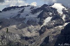 Funambolo e Marmolada (Luca Bobbiesi) Tags: mountains marmolada glacier ghiacciaio funambolo tightropewalker landscape mountain dolomiti dolomites alpi canoneos7d canonef24105mmf4lisusm