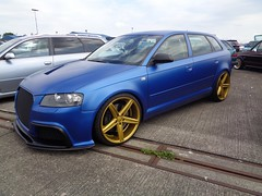 Audi A3 Sportback (911gt2rs) Tags: treffen meeting show event tuning 8p 8pa rs3 tief low stance blau blue