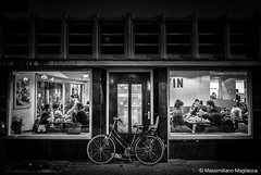 Bicycle bar, Amsterdam. (Massimiliano Magliacca) Tags: streetphotography leicaq leica monocrome blackandwhite