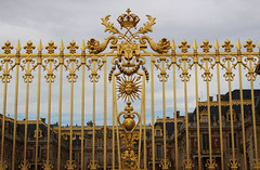 The Sun King at Versailles (big_jeff_leo) Tags: paris louis versailles palace architecture gold heritage building statelyhome historic art ceiling fresco imperial unesco hallofmirrors french royal