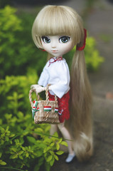 Basket (Dragonella~) Tags: pullip d5100 doll victorique de blois victoriquedeblois groove pullipvictorique obitsu blonde pullipobitsu pullipvictoriquedeblois green red white nikon