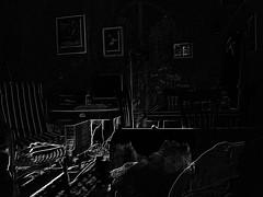 rememberance of the room past (mi ne volimo alu) Tags: blackandwhite black negative interior room idyllic illumination indoor monochrome graphic furniture seat chair