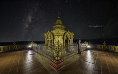 Doi sappanyoo temple with milky way. (Alongkot.S) Tags: architecture art asia asian astrophotography atmosphere big buddha buddhism buddhist buddist cave cosmic dark destinations galaxy glitter god golden high infinite krabi landmark milky milkyway night phiphi religion sacred sculpture seua sky space statue temple thai thailand tham tiger tourism travel universe wat way worship zen