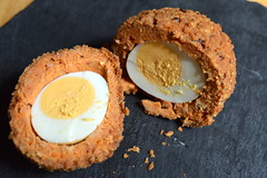 Chorizo Scotch Egg (Tony Worrall) Tags: uk england food make menu yummy nice dish photos tag egg cook tasty plate eaten things images x made eat foodporn add meal taste dishes cooked tasted grub iatethis foodie flavour plated foodpictures ingrediants picturesoffood photograff foodophile ©2015tonyworrall
