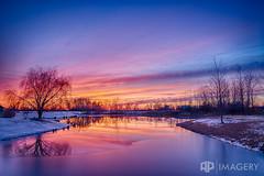 Winter Sunset & Lake (AP Imagery) Tags: winter sunset lake reflection pond sorgho whisperingmeadows