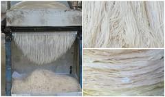 Stap 4 van het proces om Rice Noodle te maken (MTTAdventures) Tags: factory rice machine noodle snijden