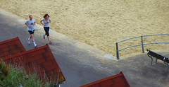 Keeping fit (Durley Beachbum) Tags: exercise may prom runners bournemouth 100pictures2015songtitles73