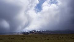 a hard rain's gonna fall (lunaryuna) Tags: sky panorama weather season landscape volcano iceland spring glacier lunaryuna cloudscape rainclouds southiceland rainfront weathermood seasonalwonders eyjafjallajoekullmassif