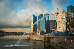 LionCity (elenaleong) Tags: skyline singapore cityscape touristattraction merlionpark mythicalcreature onefullerton sunrsie iconiclandmark marinareservoir