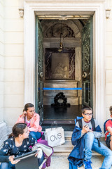 Ravenna, Tomba di Dante (Anita Pravits) Tags: italien italy italia pupils ravenna emiliaromagna dantealighieri grabmal schulklasse tombadidante