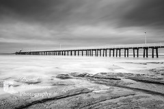 Stormy seas Point Lonsdale Victoria (David Williamson Photography) Tags: ocean longexposure sea bw panorama canon landscape outdoors pier seascapes jetty australia victoria lee slowshutter leefilters 5dmk3 leebigstopper tamron2470vc canon1635f4 davidwilliamsonphotographypointlonsdale