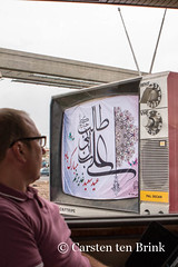 Something going on with the picture? (10b travelling) Tags: television giant persian asia asien iran middleeast persia asie iranian 2014 qom neareast ghom moyenorient naherosten mittlererosten tenbrink carstentenbrink westernasia iptcbasic 10btravelling