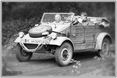 militracks 2016 (<<<< peter ijdema >>>>) Tags: monochrome vw blackwhite pentax zwartwit german ww2 82 k1 duits typ 2016 overloon kubelwagen da50135 militracks vwtyp82kubelwagen httpwwwmilitracksnl
