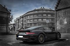 Porsche 911 turbo S (Cocodix) Tags: old city black lund color car canon se town sweden outdoor background bricks porsche selective skneln cocolino cocodix