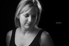 Karine (JM Boisvert) Tags: portrait bw woman beauty studio key low blonde strobe