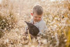 Friendship is not a big thing... (Jagoda 1410) Tags: bunny childhood child outdoor naturallight childphotography kidsandanimals kidsonthefarm childrensphotography