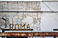 Rusty ROMA (Santini1972) Tags: logo rusty texture bcn factory decay abandoned facade