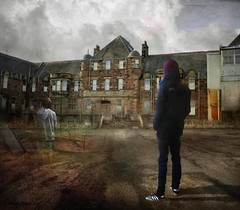 This Used To Be My Playground... (rubyblossom.) Tags: rubystreasurechallenge66 youth boy young teenager hoodie disused abandon playground rubyblossom 2016
