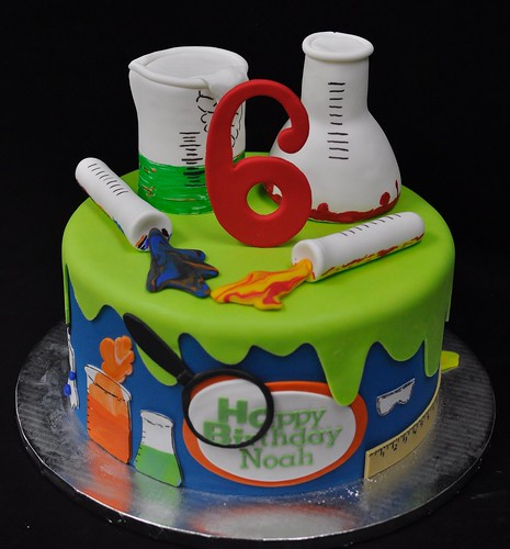 Miraculous Mad Science Cake A Photo On Flickriver Personalised Birthday Cards Petedlily Jamesorg