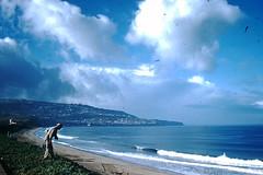 1-1954- Coastline- Redondo Beach CA- (2) (foundslides) Tags: foundslides irmalouisecarter irmalouiserudd kodachrome red border slide film analog pictires pictures pics photos photo picture kodak amateur photgraphy transparencies slidefilm colo color colour photographer johnhrudd